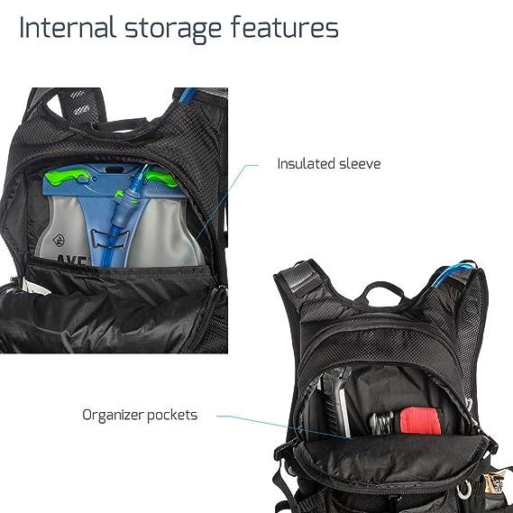 Amazon.com : Mazama Kapka Hydration Pack with 3 L Bladder (Black) : Sports & Outdoors