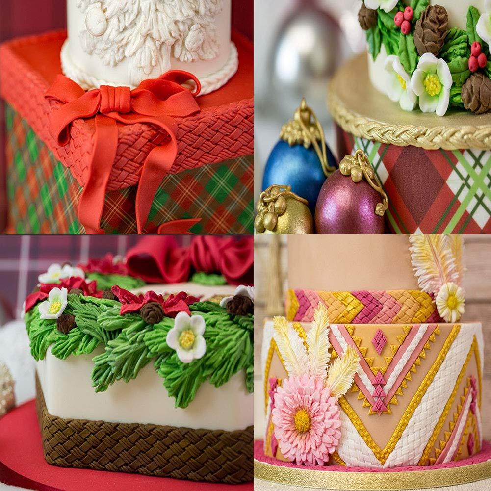 BOZOA Cake Border Decorating Mold Plaited Borders Mold Cupcake Topper//Chocolate//Fondant//Jewelry//Polymer Clay//Epoxy Resin Braid Rope Mold