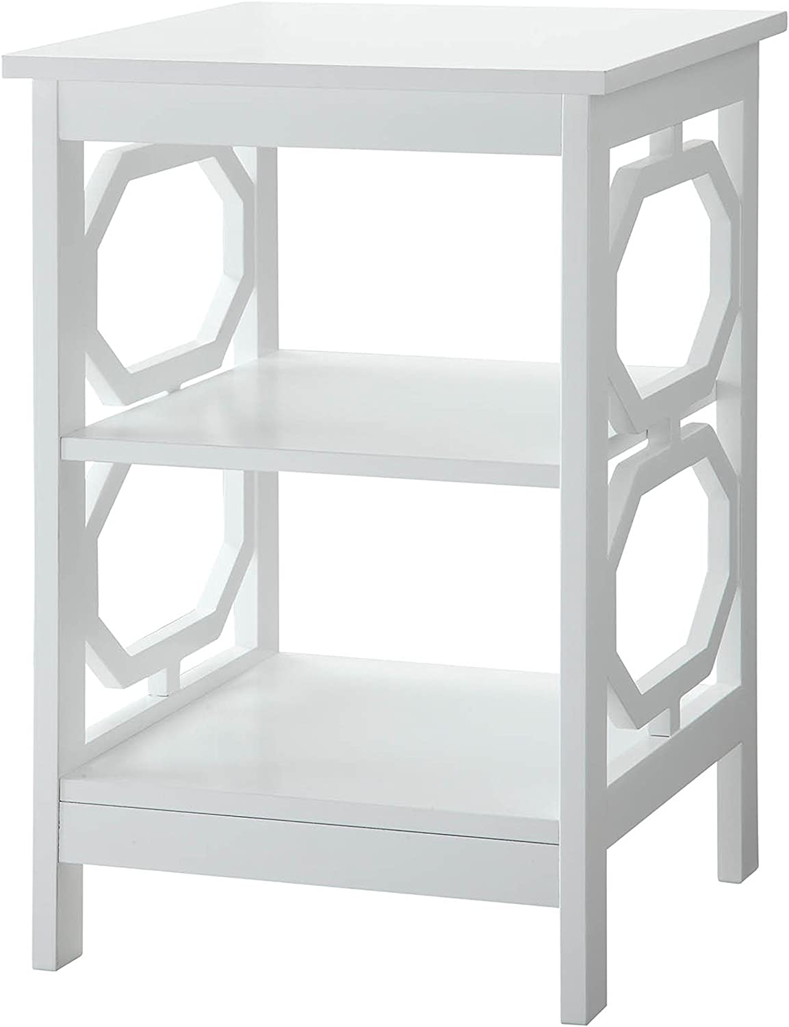 Convenience Concepts Omega End Table, White