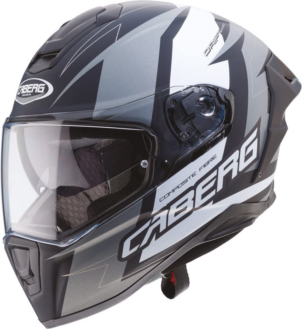59//60 Caberg Drift Evo Speedster Integralhelm Schwarz Matt//Grau L