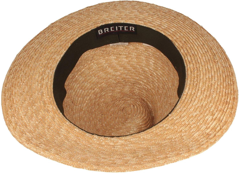 Trachtenhut Aus 100/% Stroh mit 3-Fach Kordel Made IN Germany Werdenfelser Hut Breiter Trachten-Strohhut Sommerhut