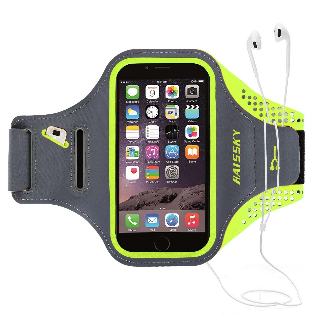 1617 UE Sports de plein air multifonctionnels en cours d'exécution brassard bras téléphone portable sac avec porte-clés, pochette pour les téléphones intelligents jusqu'à 5,8