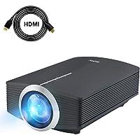 Deeplee Mini Beamer [Upgrade Version], LED Projektor 2000 Lumen HD für USB / HDMI / VGA / AV / SD Heimkino Videoprojektor für Outdoor Indoor Filmerlebnis und Heimkino