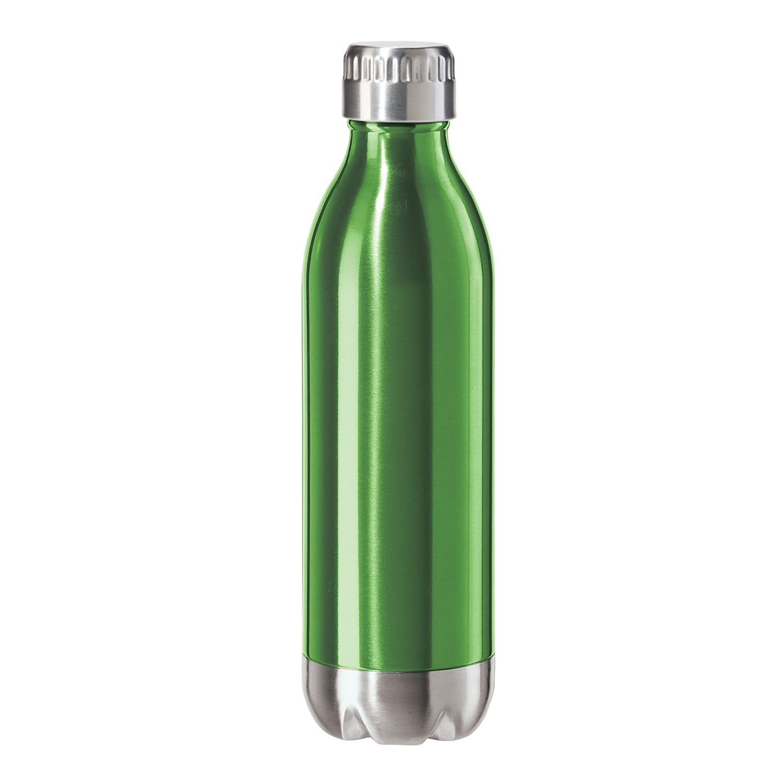 Oggi 8085.11 Edelstahl Calypso doppelwandig Sports Flasche mit Schraubverschluss (0,05 Liter, OZ)-Metallic
