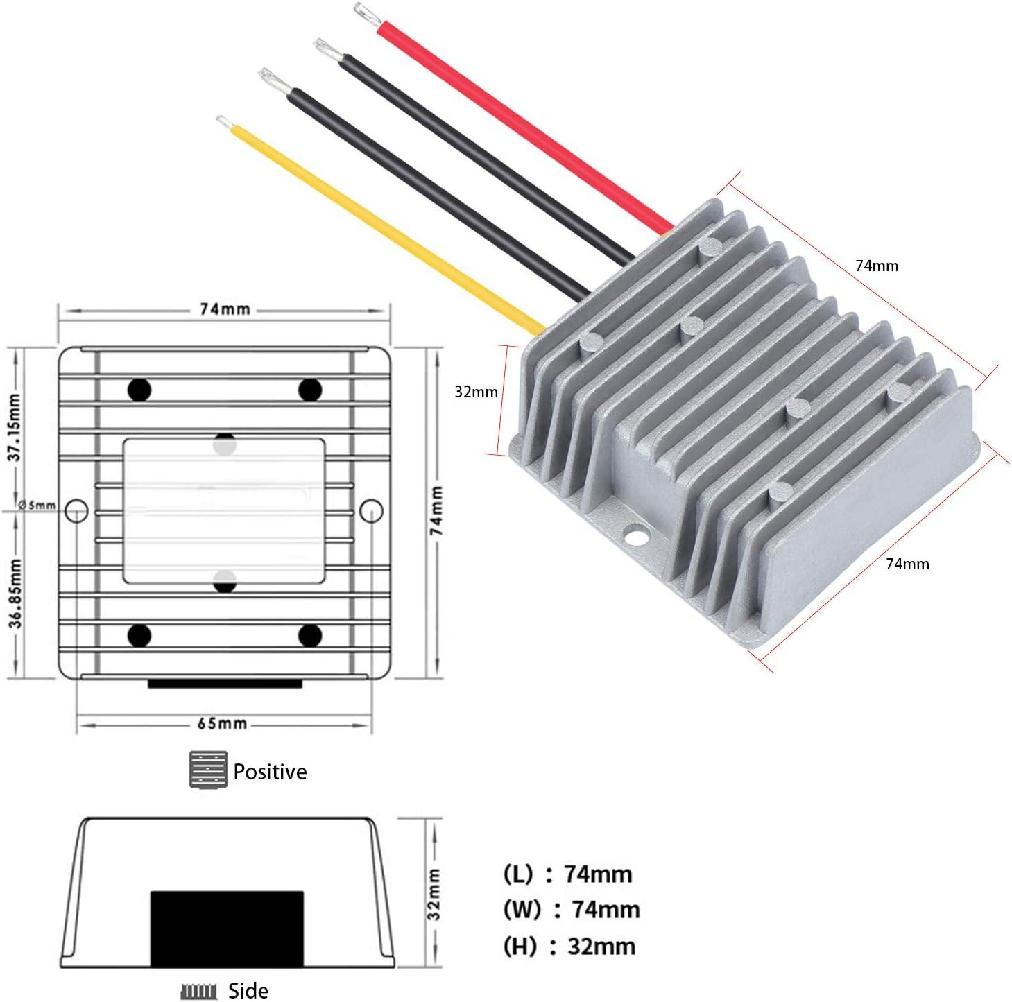 Sistema Solar Barco regulador Reductor de Voltaje para Coche Aussel DC 24 V a DC 12 V convertidor de Bajada Transformador de 20 A 240 W cami/ón