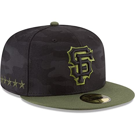 huge discount 46ba5 15bf2 Amazon.com  New Era San Francisco Giants Memorial Day Fitted Cap 59fifty  Basecap Limited Special Edition  Clothing