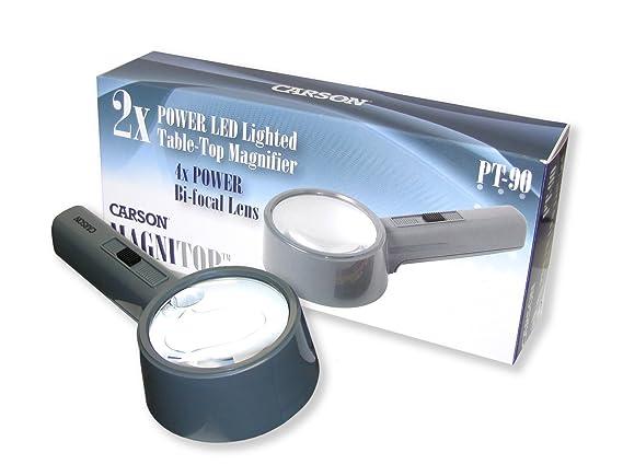 35e5b86a12c14 Carson 2x MagniTop encendido LED de manos libres lupa  Amazon.es   Electrónica
