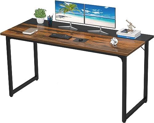 Homfio Computer Desks 55 Inch Home Office Study Writing Desk PC Laptop Table