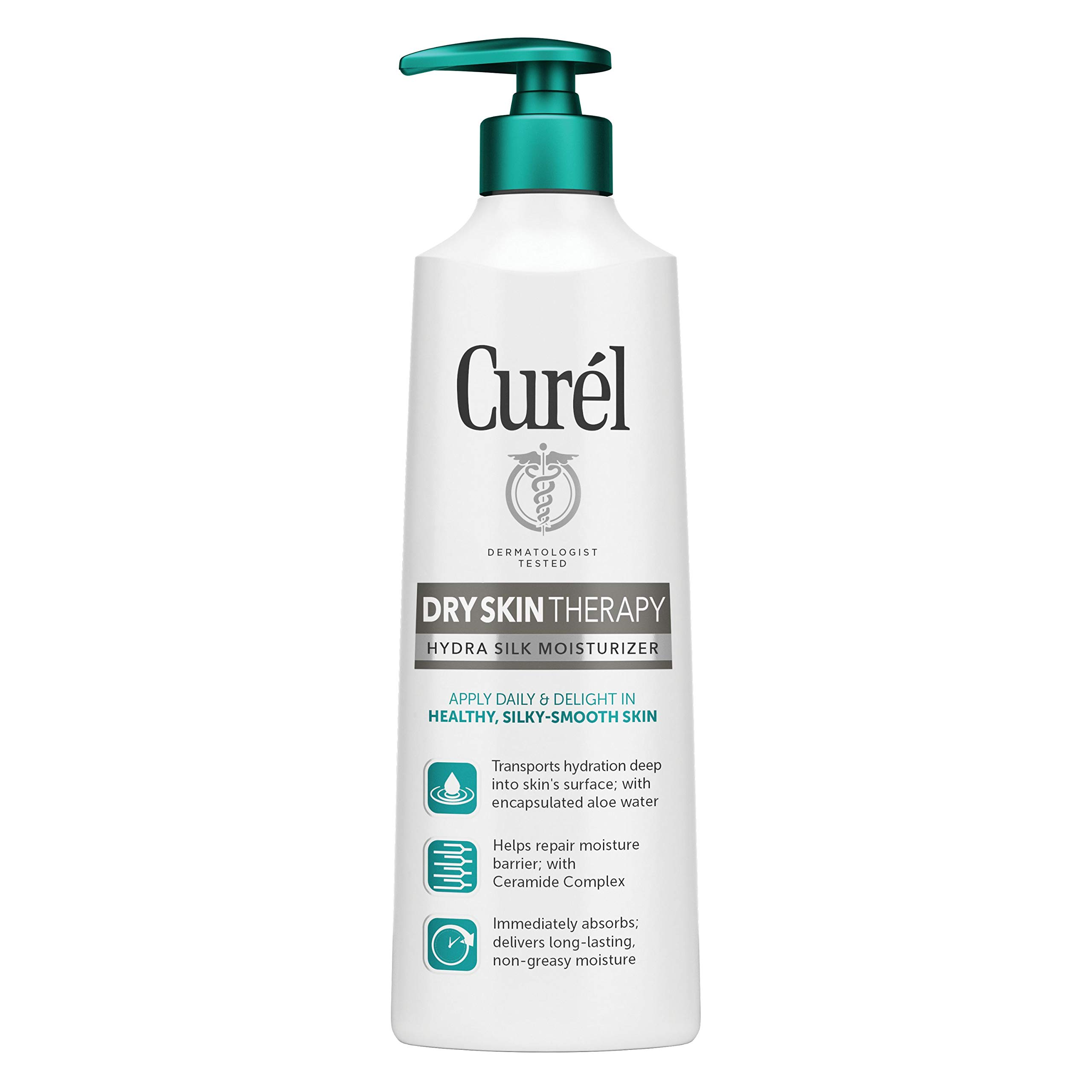 Curél Hydra Therapy, Itch Defense Moisturizer, Wet Skin Lotion, 12 Ounce, with Advanced Ceramide Complex, Vitamin E, and Oatmeal Extract, Helps to Repair Moisture Barrier