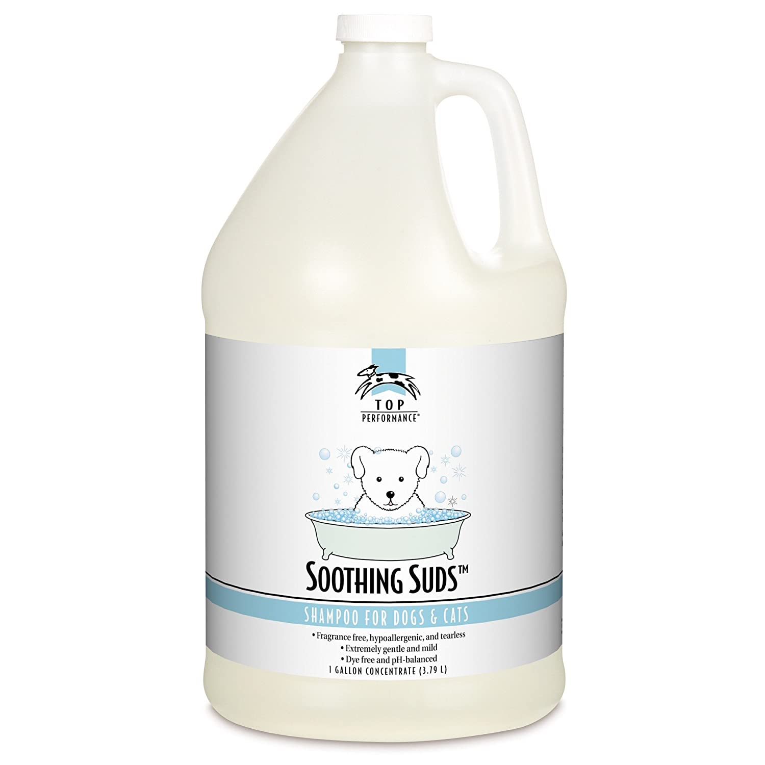 Gallon Top Performance TP681 91 Soothing Suds Small Pet Shampoo, 1-Gallon