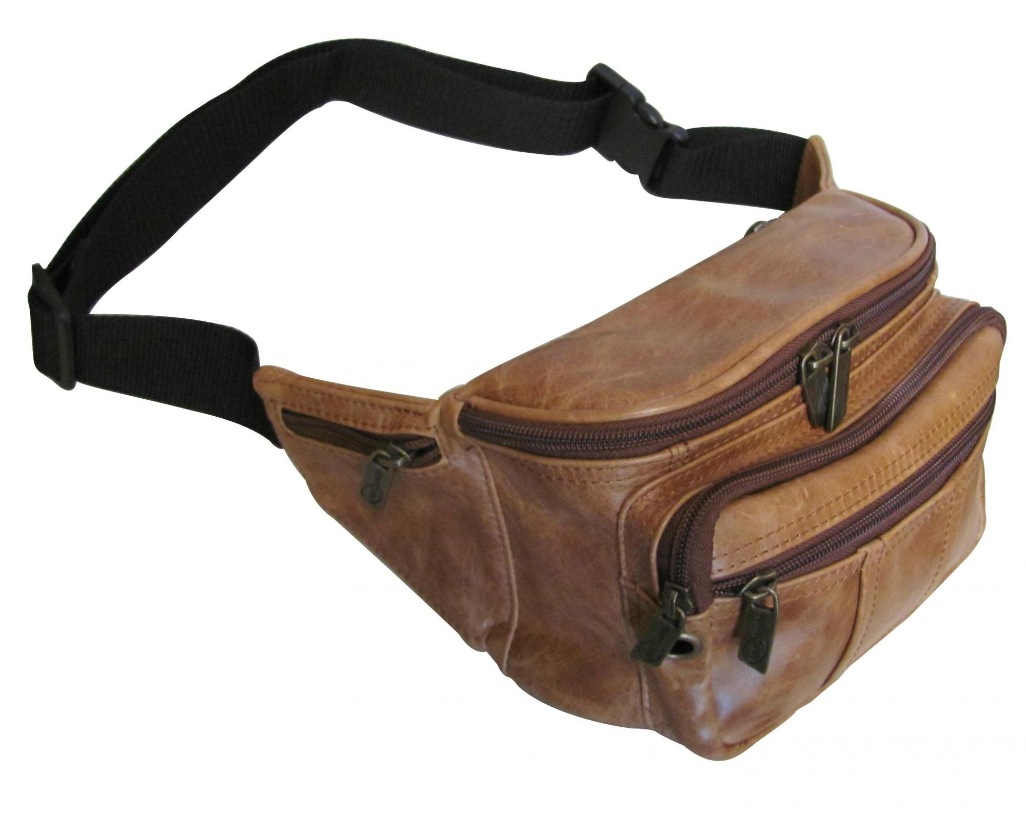 AmeriLeather Easy Traveller Fanny Pack (Lime) by Amerileather (Image #3)