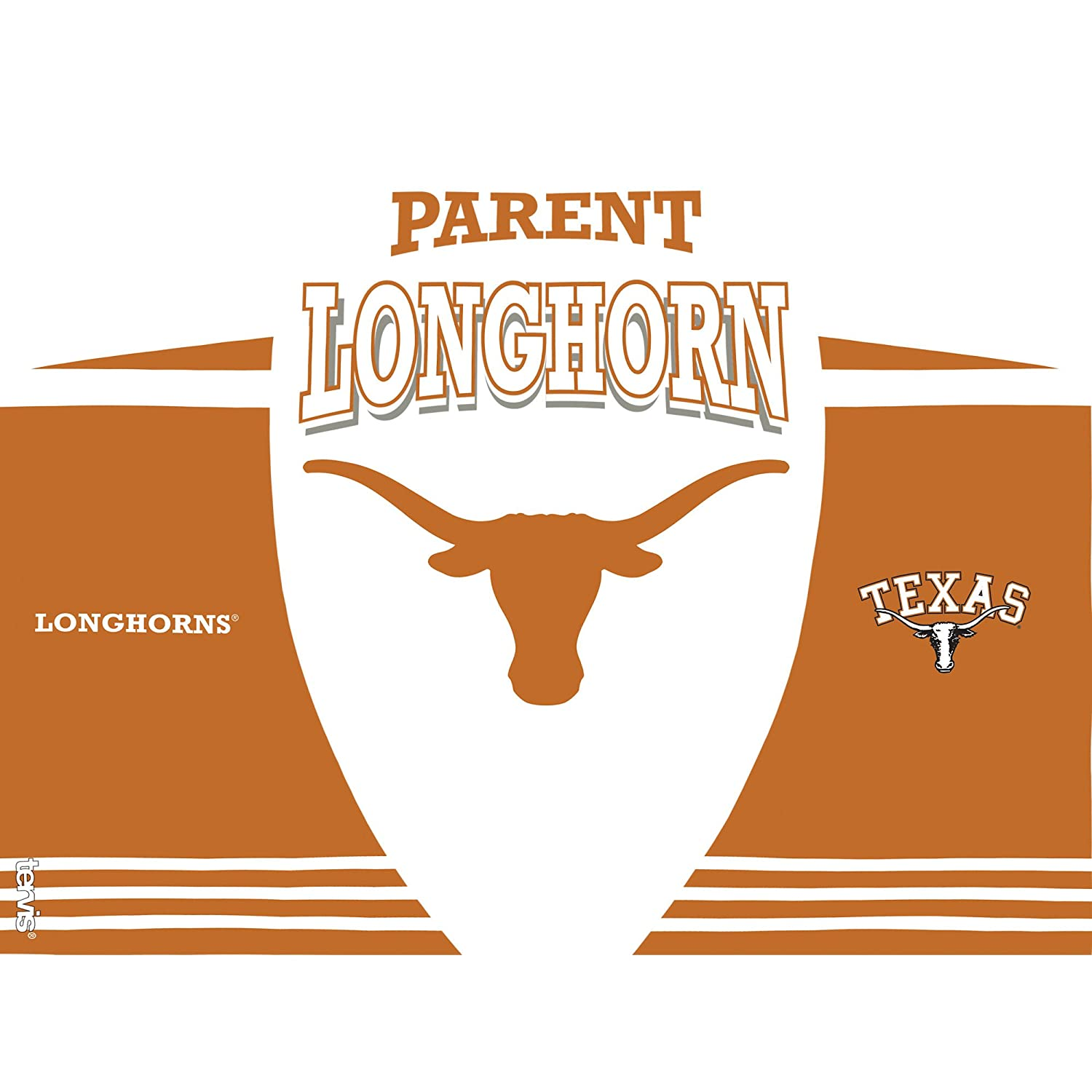 Clear Tervis 1223902 Texas Longhorns Parent Tumbler with Wrap and Black Lid 24oz