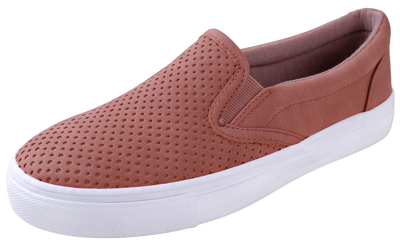 Soda Women's Slip On Flat Shoes Dark Mauve 7 B(M) US