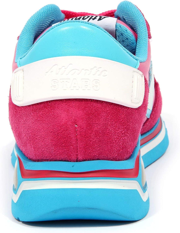 Atlantic Stars 3483J Sneaker Donna Pink Shaka Suede/Fabric Shoe Woman Rose