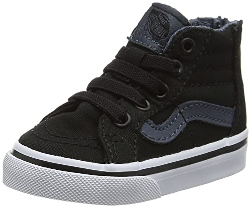 62c091d87ba277 Vans Sk8-Hi Zip Athletic Boy s Shoes Size 4 Black White