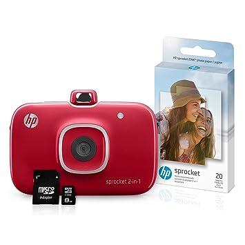 Amazon.com: HP Sprocket 2 en 1 Impresora fotográfica ...