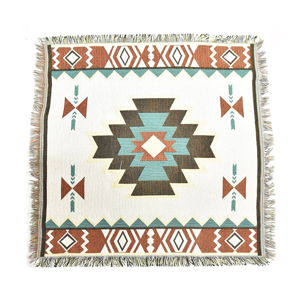 Peel Forest 90X90cm aztec navajo blanket small rugs cotton woven tribal wall hangings decor bohemian throw