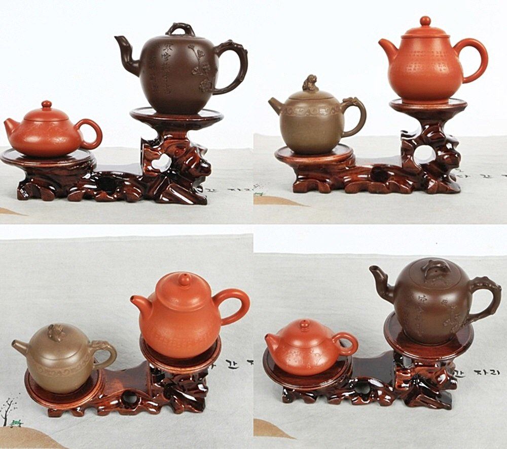Wooden Oriental Antique Root Shaped Teapot Cups Tray Teacup Tea kettle Trivet Stand Or Coffee,Tea Cup Trivet
