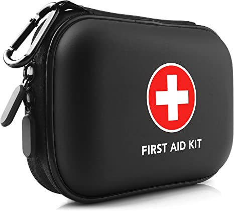 Car Camping Biking Hiking Kitgo Mini First Aid Kit 101 Pieces Water-Resistant Compact Hard Shell Case Perfect for Travel
