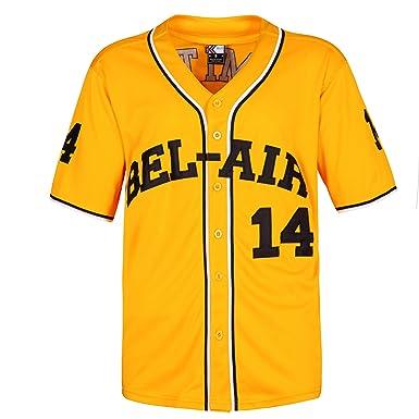 Amazon.com  MOLPE Smith  14 Bel Air Academy Baseball Jersey S-XXXL ... 4b6ec6d6e0e3