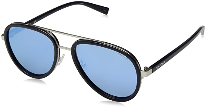 990685e906 Image Unavailable. Image not available for. Color  Nautica Men s N4627sp Polarized  Aviator Sunglasses NAVY 57 mm