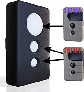 Garage Door Opener Remote 2 Frequency Transmitter Control 315mhz 390mhz for Sears Craftsman Chamberlain LiftMaster 370LM 371LM 139.53985D 970LM 971LM 972LM 139.53681b Purple Red Orange Learn Button