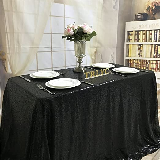 Rectangular Square Sequin Tablecloth Table Cloth Wedding Party Decoration