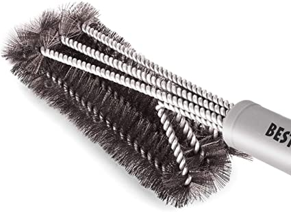 Barbecue Steel Grill Brush Handle Cleaning Brushes Cooking Bristles BBQ Tool