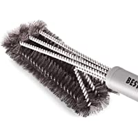 "BEST BBQ Grill Brush Stainless Steel 18"" Barbecue Cleaning Brush w/Wire Bristles & Soft Comfortable Handle - Perfect…"