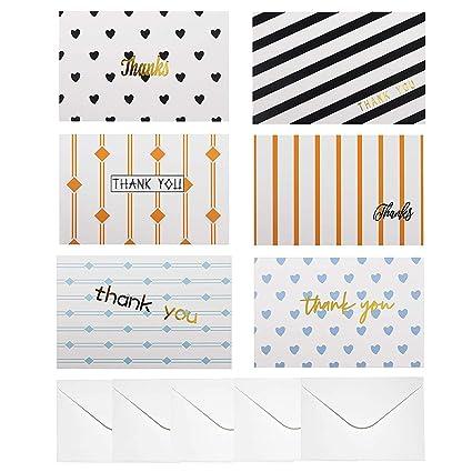 Tarjeta Agradecimiento (Pack de 48) (15,2cm x 10,2cm ...