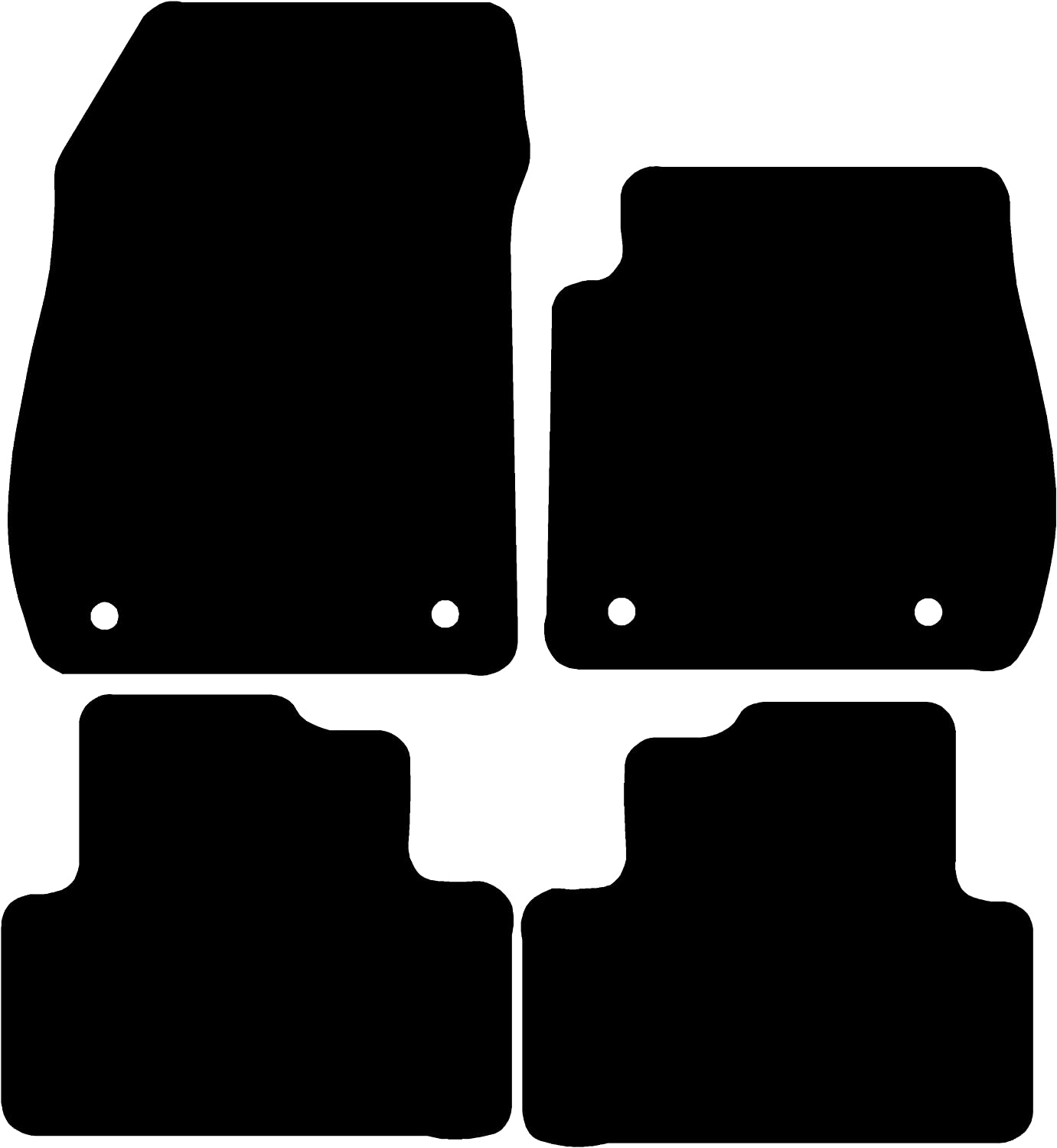 2011- Connected Essentials 5025715 Tailored Custom Fit Rubber Car Mats Vauxhall Zafira C Black