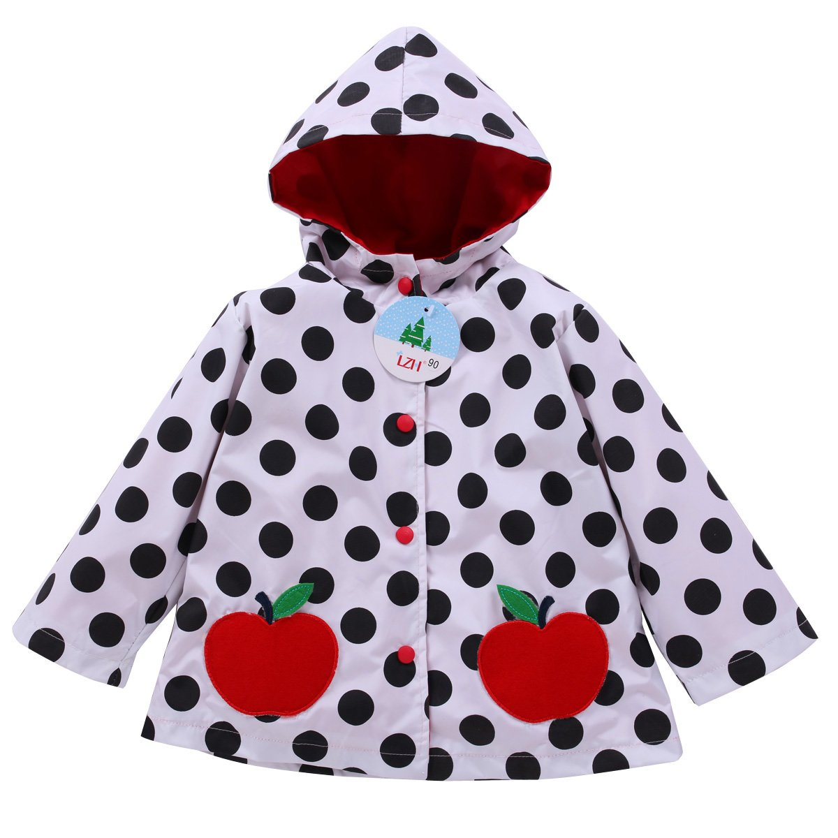 LZH Kids Girls Raincoat Waterproof Jacket Hooded Outerwear C201-203