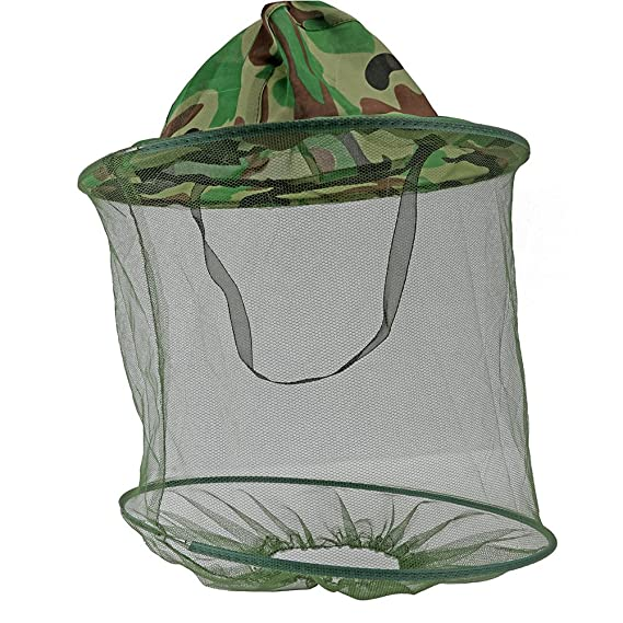 Camping Outdoor Bee Hat Beekeeping Mesh Net Head Face Protector Cap Fly Mosquito