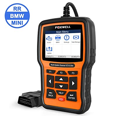 FOXWELL Professional Full-System Reset Tool for BMW Automotive OBD2 Code Reader Car Diagnostic Scanner NT510 Elite Full Systems All Functions with SRS TPMS SAS Battery Replacement[Latest Version]: Automotive