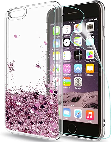 LeYi Funda iPhone 6 / 6S Silicona Purpurina Carcasa con HD ...