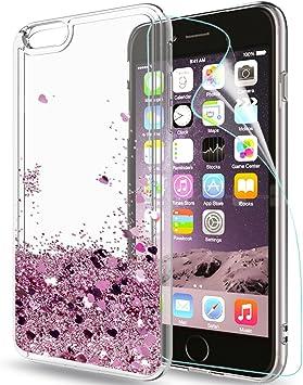 LeYi Funda iPhone 6 / iPhone 6S Silicona Purpurina Carcasa con HD ...