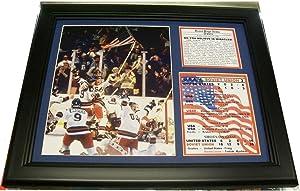 11X14 FRAMED 1980 OLYMPICS MIRACLE ON ICE 8x10 PHOTO TEAM USA DO YOU BELIEVE - Sports Memorabilia
