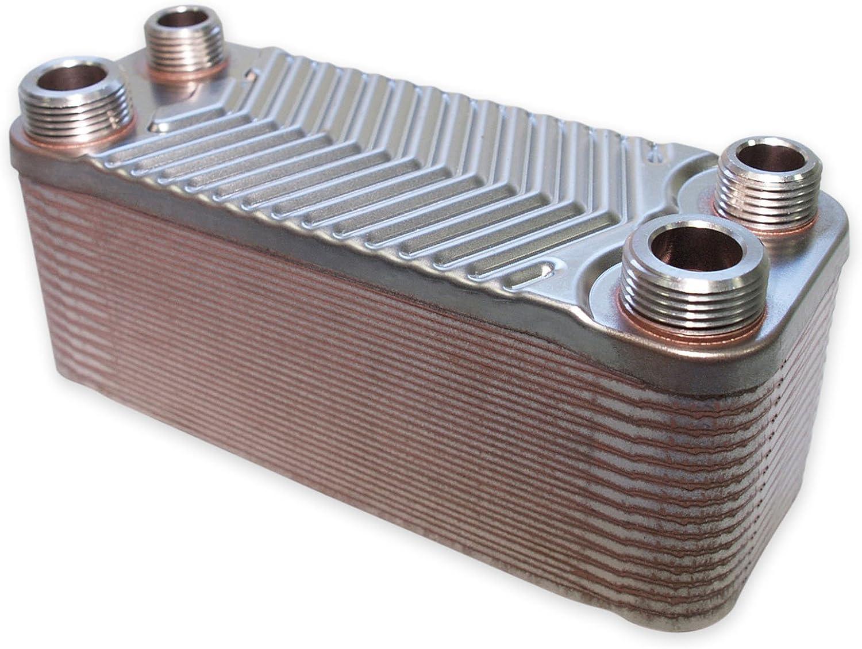 Hrale Intercambiador calor térmico acero inoxidable 30 placas Termocambiador placas máx. 66 kW