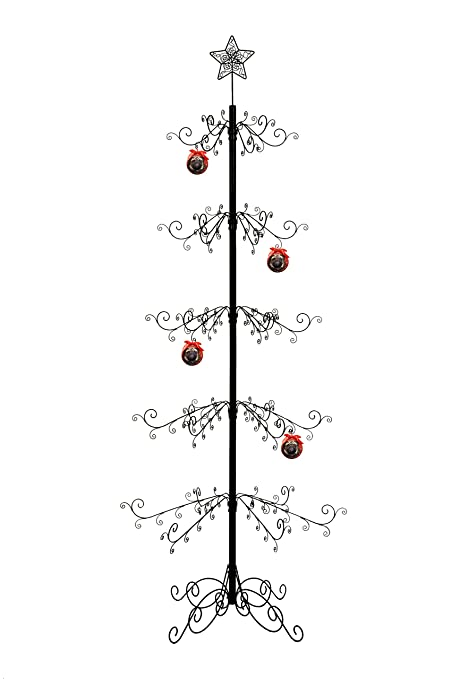 hohiya metal ornament display tree stand hook hanger christmas xmas halloween bauble ball dog cat glass - Metal Christmas Tree Ornament Display