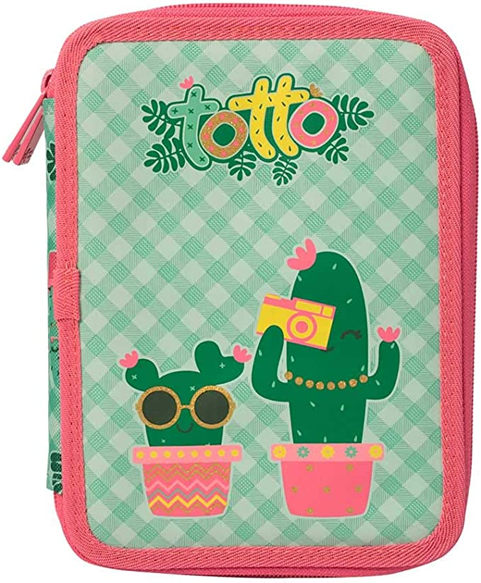 Estuche Escolar Plano portalapices TOTTO - Lovely Cactus: Amazon ...