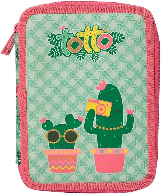 Estuche Escolar Plano portalapices TOTTO - Lovely Cactus: Amazon ...