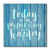 Placa Decorativa - Happy - 1640plmk