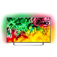 Philips 43PUS6753/12 43-Inch 4K Ultra HD Smart TV with HDR Plus, Freeview Play and Ambilight 3-sided - Dark Silver (2018 Model) (Refurbished)