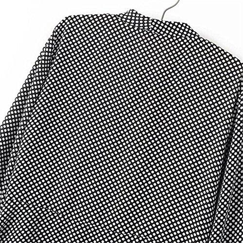 Hollwald La Femme Robe à pois la nouvelle collection 2017 avec col V et les manches longues évaséés mi-longue