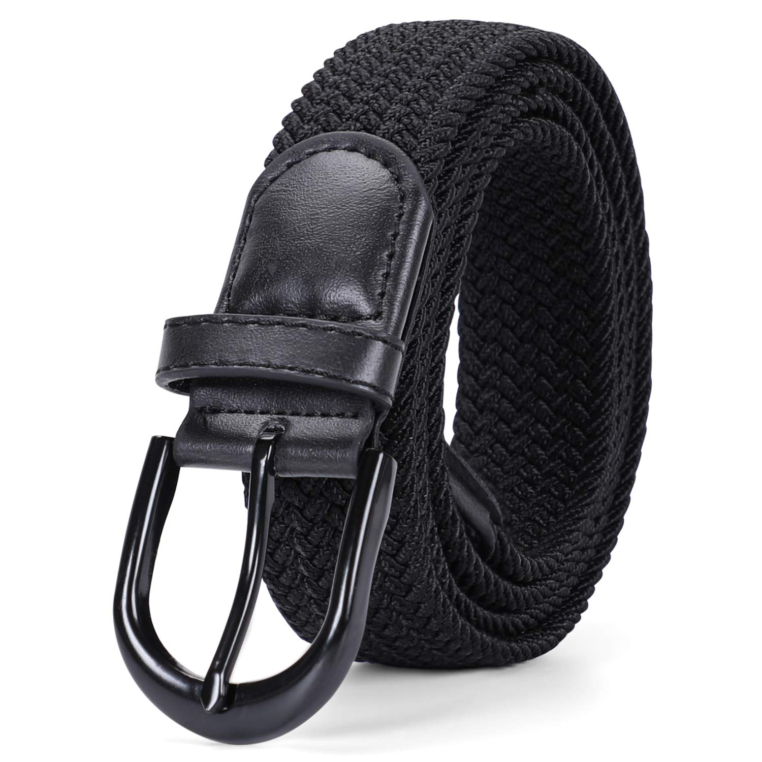 Fashion Women Canvas Braided Belts Stretch Elastic Slack Belt Strap Waist Belts