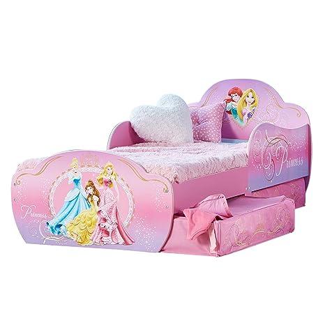 Lettino Con Cassettone.Worlds Apart Principesse Disney Lettino Per Bambini Con Contenitore Sottoletto