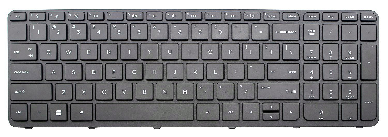 New Laptop Notebook Keyboard US Layout Color Black (no frame) For HP 15-R000, 15-R100 15-r004xx 15-r011dx 15-r013ca 15-r015dx 15-r017dx 15-r018dx 15-r021nr ...