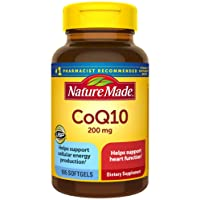 Nature Made CoQ10 200 mg Softgels, 105 Count for Heart Health and Cellular Energy...