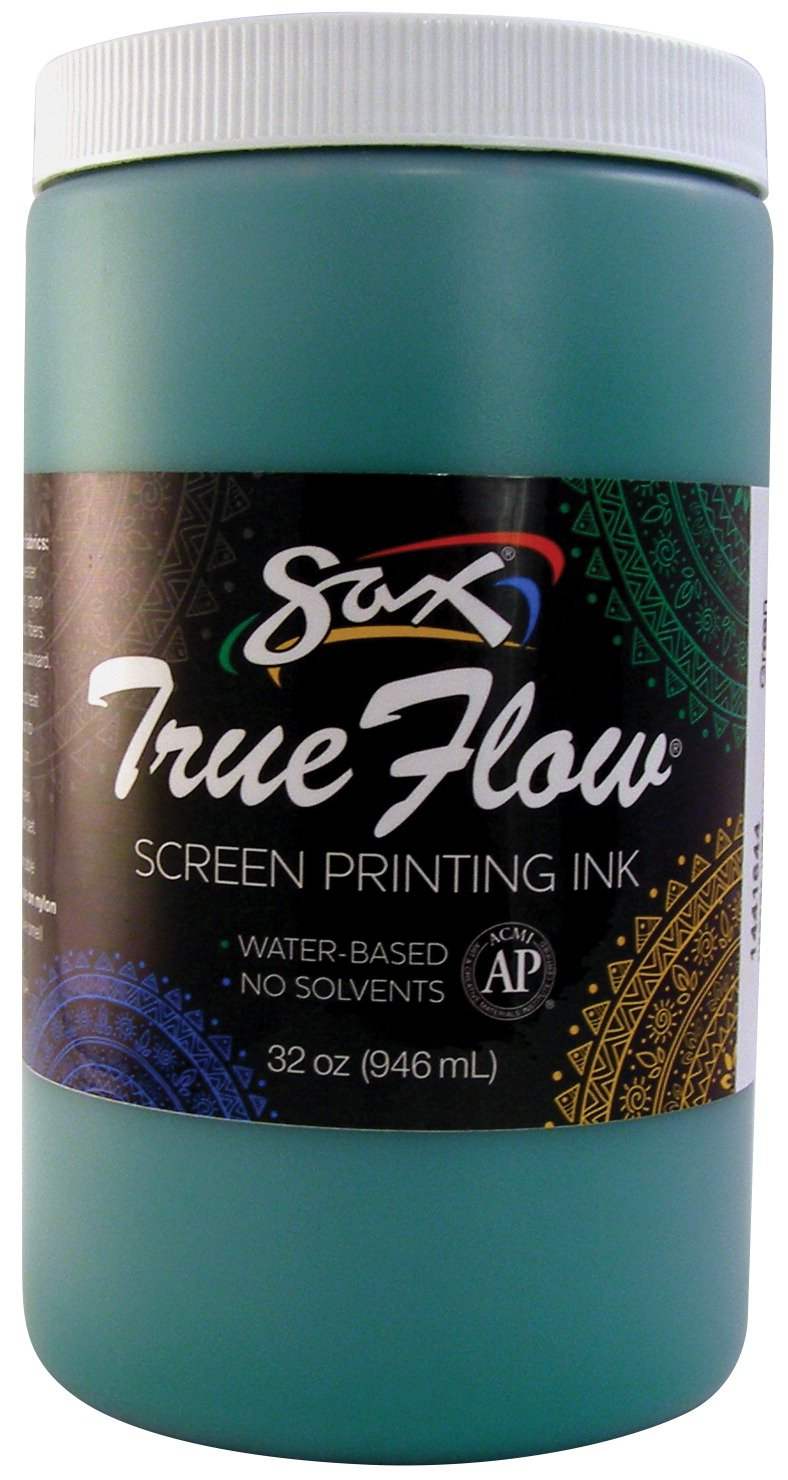 Sax 1441644 True Flow Non-Flammable Screen Printing Ink, 1-Quart, Green
