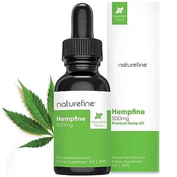 Hemp Oil - (500 MG) - Hemp Oil - Spearmint Flavor - Natural Pain Relief &  Anxiety - Hempfine - Proudly